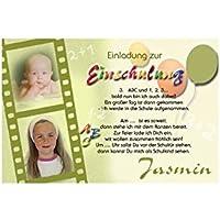 15 Individuelle Fotokarten Als Einladung Zur Einschulung, Einschulungskarte  ES26 , Im Format 10x15 Cm Inkl