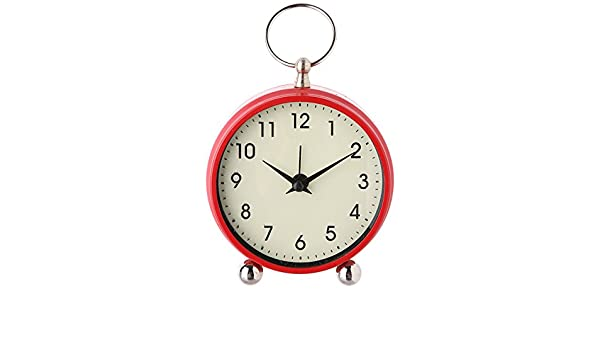 c887db5839b Classic Coloured Round Bedside Alarm Clock Red  Amazon.co.uk  Kitchen   Home