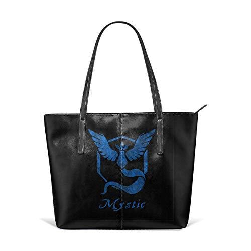 xcvgcxcbaoabo Mode Handtaschen Einkaufstasche Top Griff Umhängetaschen Women's Hand Bag Waterproof Crossbody Bags Ladies Single Shoulder Cowhide Evening Purses Party Bags Printed with Team Mystic