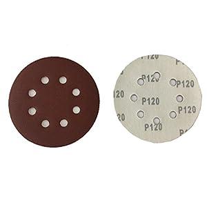 50dischi abrasivi velcro Ø 125mm Grana 120per smerigliatrice Eccentrica 8foro