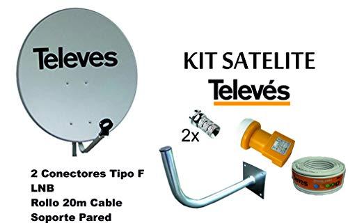 KIT SATELITE TELEVES ASTRA CON DISCO DE PARABOLICA