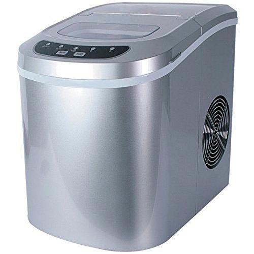 Houseware - Macchina per il ghiaccio, 12kg al giorno, con compressore, serbatoio da 1,1kg (BN-3513) argento