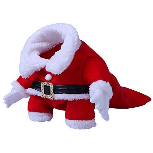 Unbekannt Weihnachts-Haustier-Kleidung, Xmas-Haustier-Anzug, Weihnachtskostüme Für Hunde Niedliche Kleine Haustier Weihnachten Rotes Festkleid,L