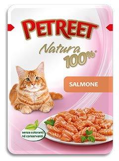 PETREET Natura 100% per Gatto in Busta da 70 Gr, Salmone