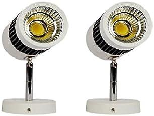 Glitz Metal 6500K 9W Led Spot Light, 6x10x13cm (Cool White,9WSPWH2) - Set Of 2