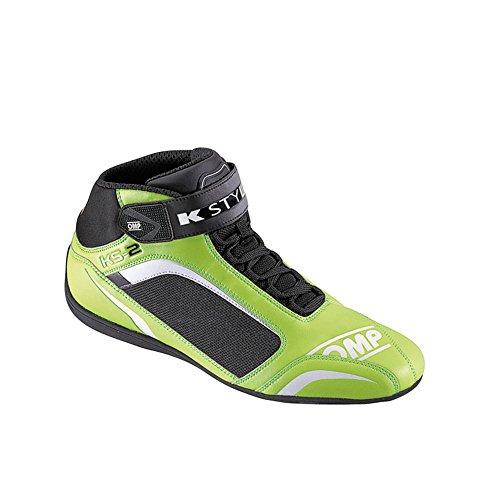 ic/812KS-2KS2Kart Omp Karting Bottes Tissu en microfibre en 4couleurs toutes les tailles, Femme Homme, noir, 36 (UK 3.5) vert