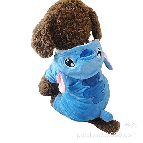 Jersey Stitch-pullover (WLBD Halloween-Kostüm Warmer Kleiner Hund kleidet Hund @ Blue Stitch_L hundemantel Overall wasserdichte)