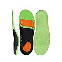 Santo Shoe Insole, Scientifically High Arch Support Orthotic Shoe Inserts Plantar Fasciitis Feet Insoles Super Support Shoe Inserts Best Absorbing Relieve Heel Spurs & Foot Pain for Man Women (L)