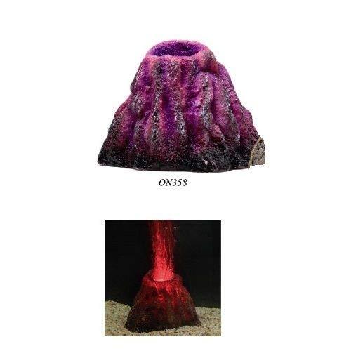 Classica Aquarium-Element, ausbrechendener Vulkan, LED-Licht, ausströmende Blasen (Led-aquarium Vulkan)