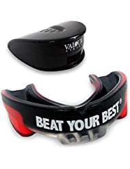 Valour Strike Boxing Gum Shield Mouth Guard ★ Premium Kids Adult MMA Kickboxing Muay Thai Hockey Mouthpiece ★ Mouth Protector Judo Rugby Mouthguard Contact Sports Martial Arts Karate ★ Men Women …