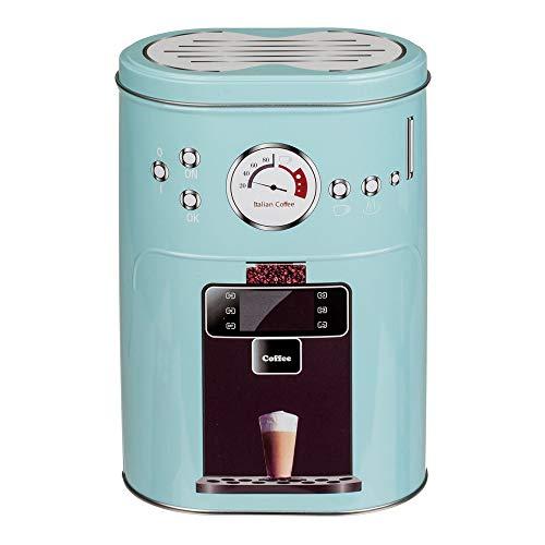 hibuy Kaffeedose Vorratsdose im Espresso Siebträgermaschine Design. Für Kaffeepads, Kaffeepulver, Kakao Zucker, etc