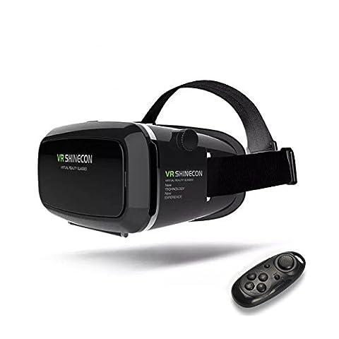 'coovoo Universal 3D Virtual Reality VR réglable Lunettes Lunettes vidéo Movie Game Carton réalité virtuelle Glasses Pour 3.5