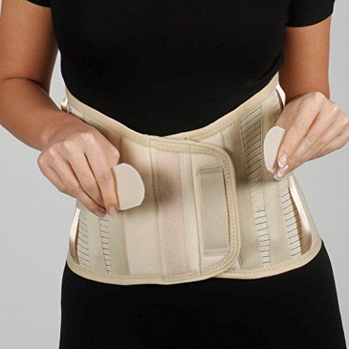 Rückenbandage - Rückenstütze - lumbosakral Rückenbandage - 32 cm Größe - Untere Lendenwirbelstütze Korsett - - Elastic Schmerzlinderung Stützbandage für Ischias Kyphose (Unterstützung Minimizer)