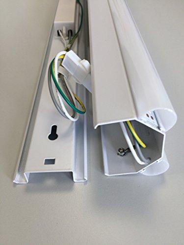MÜLLER-LICHT LED Werkstattleuchte Basic 1,20 m 2-Flammig für Wand-und Deckenmontage, 5000 Lm, Aluminium, 60 W, Weiß, 120 x 7.5 x 5.1 cm - 4
