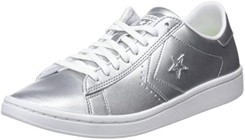 Gentiluomo   Signora Converse scarpe da ginnastica ginnastica ginnastica PRO Leather Metallic argento Garanzia di qualità e quantità Cheapest Stile classico   lusso  8ffb01