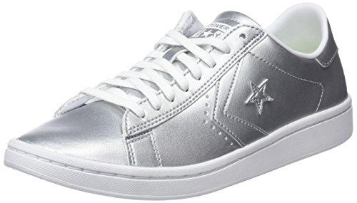 Buty Pl Ox, Zapatillas de Baloncesto para Mujer, Silber (Silber Silber), 38.5 EU Converse