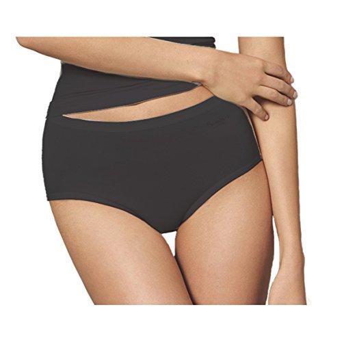Speidel Damen Bambus Midislip 5er Pack Größe 46, Farbe schwarz Bambus Slip