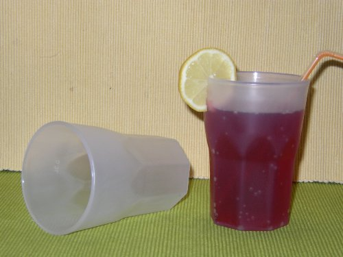 100 Mehrwegbecher Plastikbecher Cocktail Becher PP 0,3l Schwere Ausführung 100% Made in Germany Farbe natur