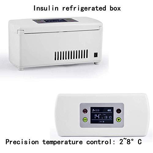 414DKiivVBL - Caja refrigerada de insulina, refrigerador portátil médico de 2-8 ° C, caja enfriadora de medicamentos, para viajes/gotas para los ojos/interferón/almacenamiento de drogas