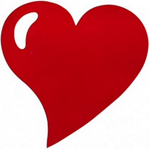 Au plaisir des yeux - Sets de table coeur non tissé Rouge (lot de 50)