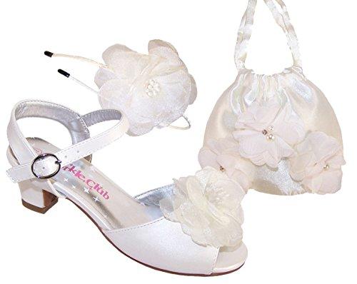 The Sparkle Club  Madelynset,  Mädchen Peep Toes , weiß - elfenbeinfarben - Größe: 31 EU -