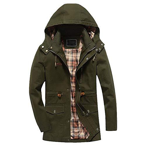 Winter warme Jacke Mantel Outwear schlanke lange Graben Reißverschluss Tasten Mantel Kinlene Herenen T-Shirt