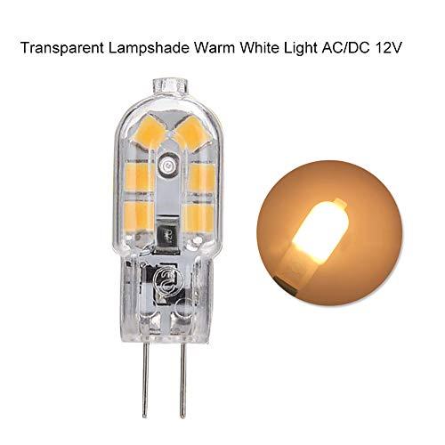 annotebestus G4 Mini LED Lampe, 2 Pin G4-Schnittstelle MaisBirnefür Ersatz Halogen Birne Warmweiß Ac/dc 12v -