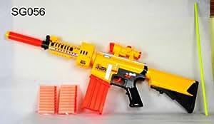 Annuler Duty 6 + pistolet piles avec 20 balles souples dans le modèle deux tailles de nerf différents (enfants: XL)
