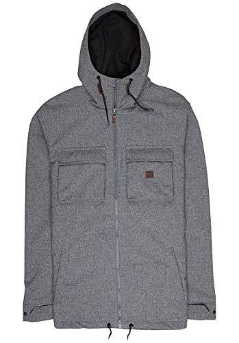 G.S.M. Europe - Billabong Herren MATT Jacket Jacke Mit Kapuze, Black Heather, L (Kapuze Billabong)