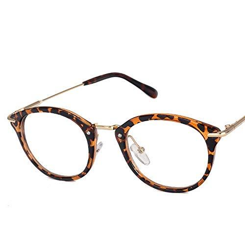 WULE-RYP Polarisierte Sonnenbrille mit UV-Schutz Männer und Frauen Brillenfassungen Anti-Blu-ray-Flachgläser. Superleichtes Rahmen-Fischen, das Golf fährt (Farbe : Leopard Print)