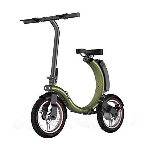 Hold E-Bikes Elektroroller - Tragbarer Klapproller - Leichtes elektrisches Aluminium-Faltrad@Grün