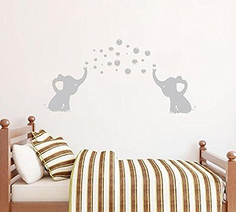 BDECOLL Éléphants Bubbles Stickers Nursery decoration,sticker mural enfant garcon,decoration chambre