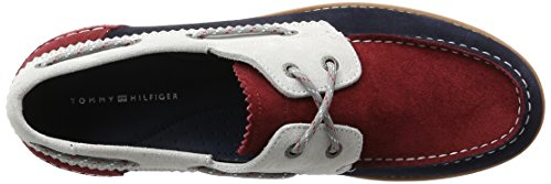 Tommy Hilfiger C2285ase 4b, Chaussures Bateau Homme Bleu (Rwb 020)