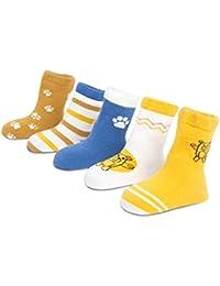 Z-Chen Pack de 5 pares de Calcetines Algodón Niños Niñas