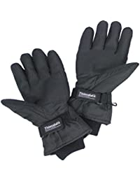 Thinsulate Adult Black Heated Gloves Battery Operated Thermal Snow Warm Winter Fishing Skiing Motorcycle Biking