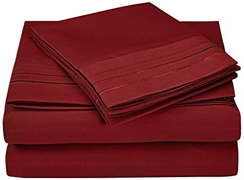 super-soft-light-weight-100-brushed-microfiber-twin-wrinkle-resistant-3-piece-bed-sheet-set-burgundy