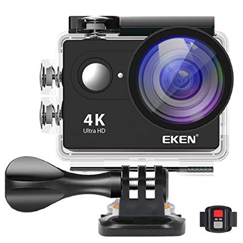 EKEN H9R 4K Actionkamera wasserdichte 170 Weitwinkelobjektiv Sportcamera Full UHD Wifi 1080P/120fps Video 12MP Foto und beinhaltet Dual-Ladegerät 2 Batterien(Schwarz)