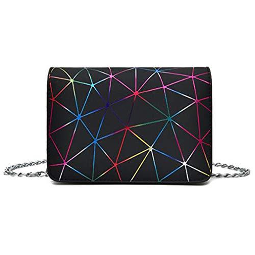 Messenger Bags Umhängetasche aus Leder Umhängetasche Black 18x13x7cm