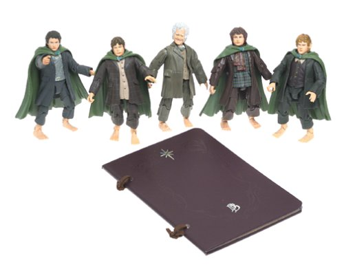 Click for larger image of Lord Of The Rings There And Back Again Hobbit 6' Figure Box Set With Exclusive Bilbo & Hobbit Journal