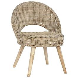 LucaSng Chaise-Canapé Kubu,Divan Lit,Sofa pour Chambre à Coucher et Salon,Rotin Naturel,60x60x79 cm