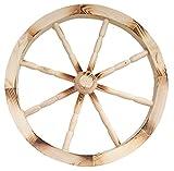 Nattoyz Wagenrad aus Holz, Verzierung, Rad eines Holzwagens, 49cm, Dekoration für Heim und Garten