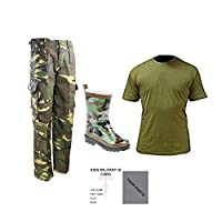 Contact Left Kids Pack A DPM - T-shirt, Trousers & Camo Wellies Military ID Card