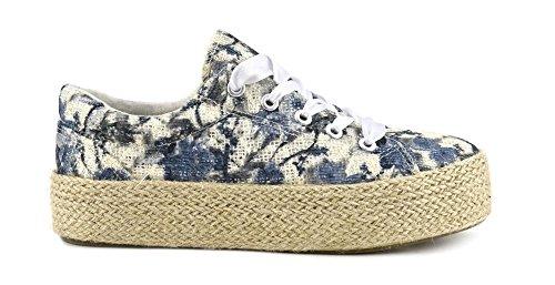 Sneaker allacciate in tessuto floreale Cafè Noir MDB911 Grigio 39