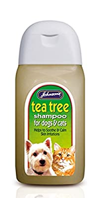 Johnsons Dog Cat Tea Tree Grooming Shampoo for itchy sensitive skin by Johnson's