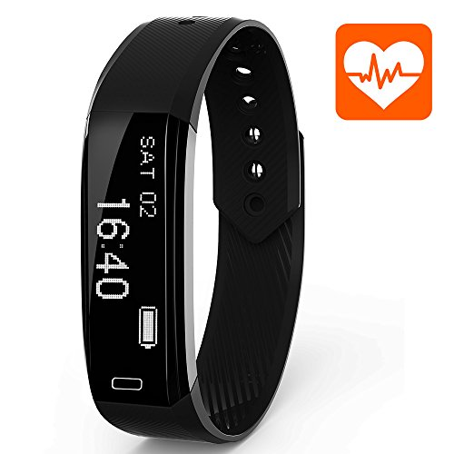 Ancheer Fitness Tracker, Activity Tracker Uhr Herzfrequenz Monitor Schritt / Schlaf / Kalorienzähler Call / SMS Erinnerung Armband Band Wasserdicht Wireless Bluetooth Wristband Smart Pedometer