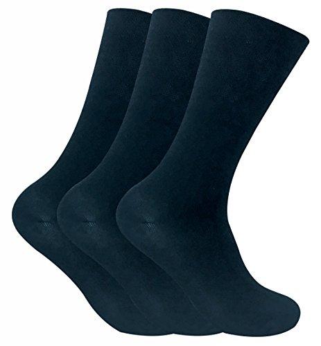 Juego de 3 pares de calcetines térmicos, no elásticos, para diabéticos Azul THRDIAM03 39-46