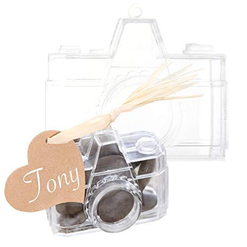 SANTEX 4579-0, Sachet de 4 boîtes à dragées Appareil Photo PVC, transparent - Appareil Photo