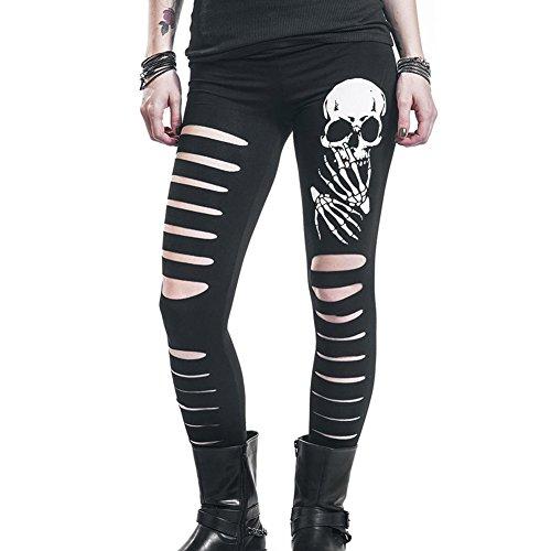 Mujer Pantalones Largo, Cómodo Cintura Elástica Slim Fit Skinny...