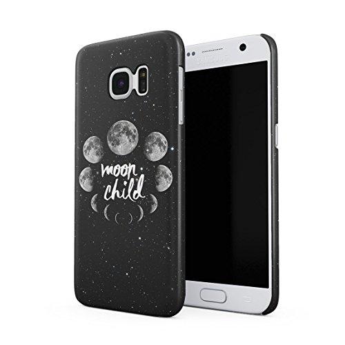Spacetime Mond Phases Moon Child Galaxy Starlight Weltraum Hispter Tumblr Dünne Rückschale aus Hartplastik für Samsung Galaxy S7 Handy Hülle Schutzhülle Slim Fit Case Cover