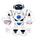 Robot giocattolo bambini musica LED Dancing elettrico robot giocattolo bambini Warrior telecomando Smart Hydro elettrico ibrido intelligente InterActive Action Figure prima educazione con Dancing Singing Walking